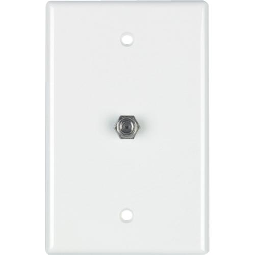 WALLPLATE 1-GANG F-CON WHT