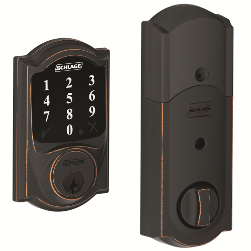 Z-WAVE DEADBOLT AGED BRONZE