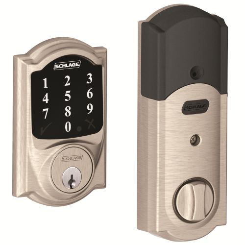 Z-WAVE DEADBOLT SATIN NICKEL