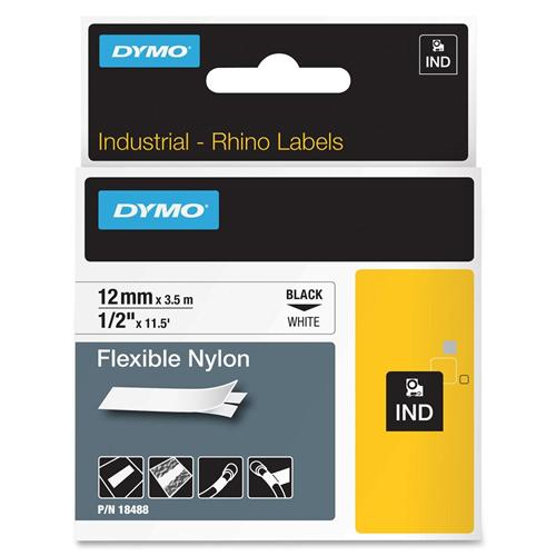 1/2 X11.5 WH FLX NYLON LABEL