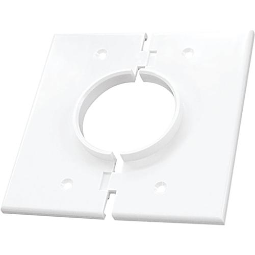 CABLEPLATE 2-GANG S-PORT WHT
