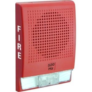 520HZ LOW FREQ HORN RED W/FIRE