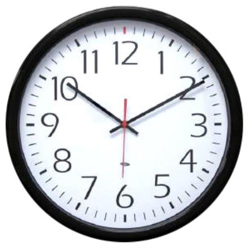 WALL CLOCK CLR H HARD WIRED SY