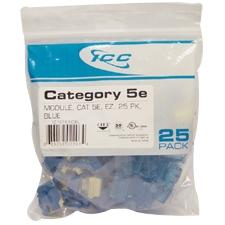 CAT5E INSERT EZ 25-PK BLUE
