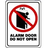4 DOOR ALARM DECAL