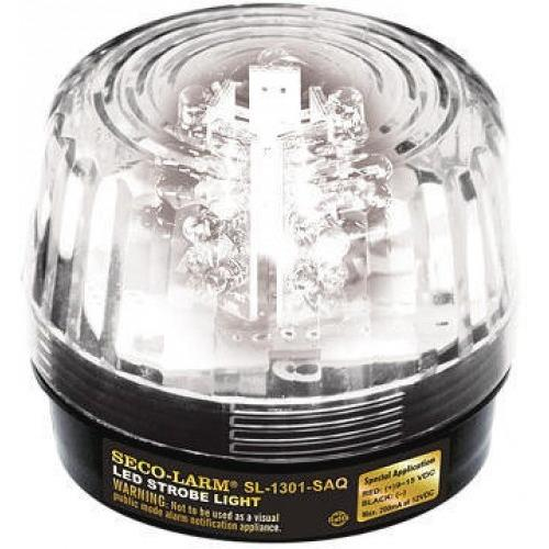 54 LED STROBE W SIREN, CLEAR