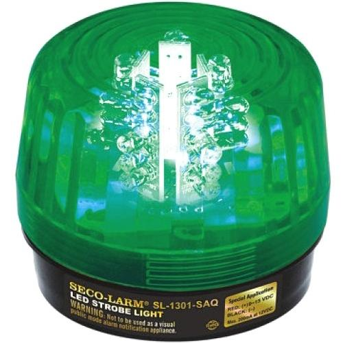 54 LED STROBE W SIREN, GREEN